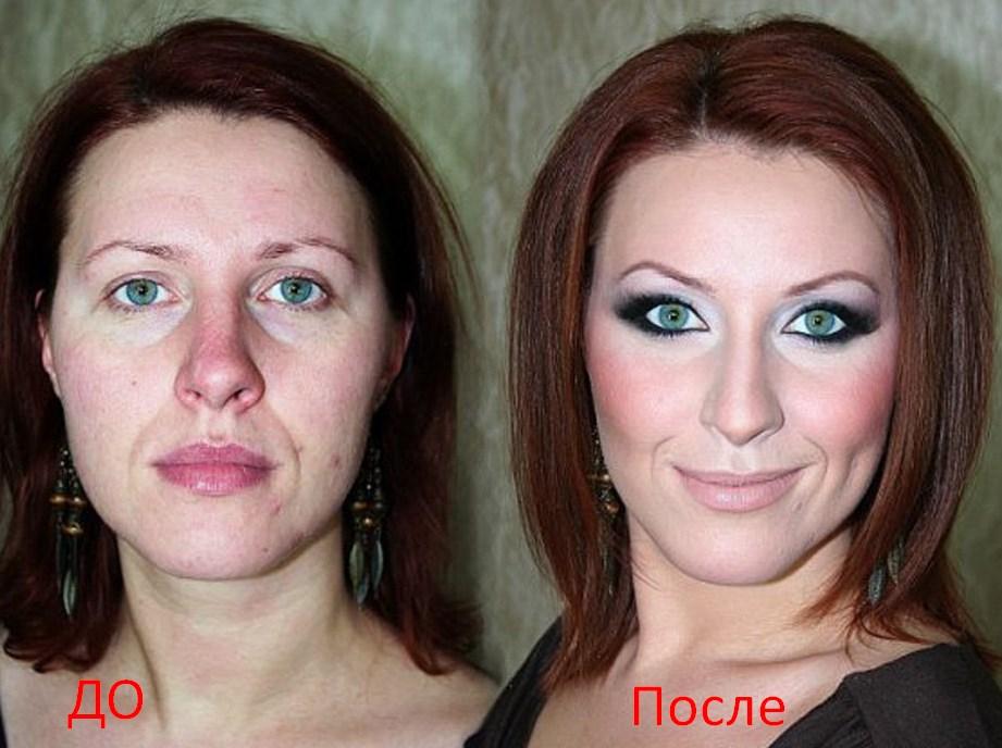 Пример макияжа для носа фото