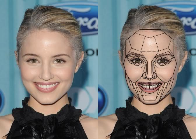 Схема-маска идеальной улыбки у девушки