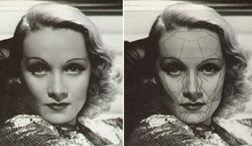 Красивое лицо Марлен Дитрих